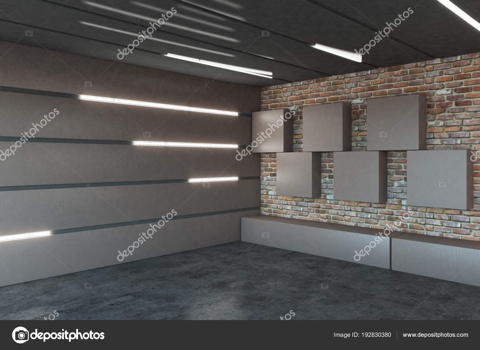 Garage Moderne Modern Garage Interior Stock Photo Peshkova 192830380