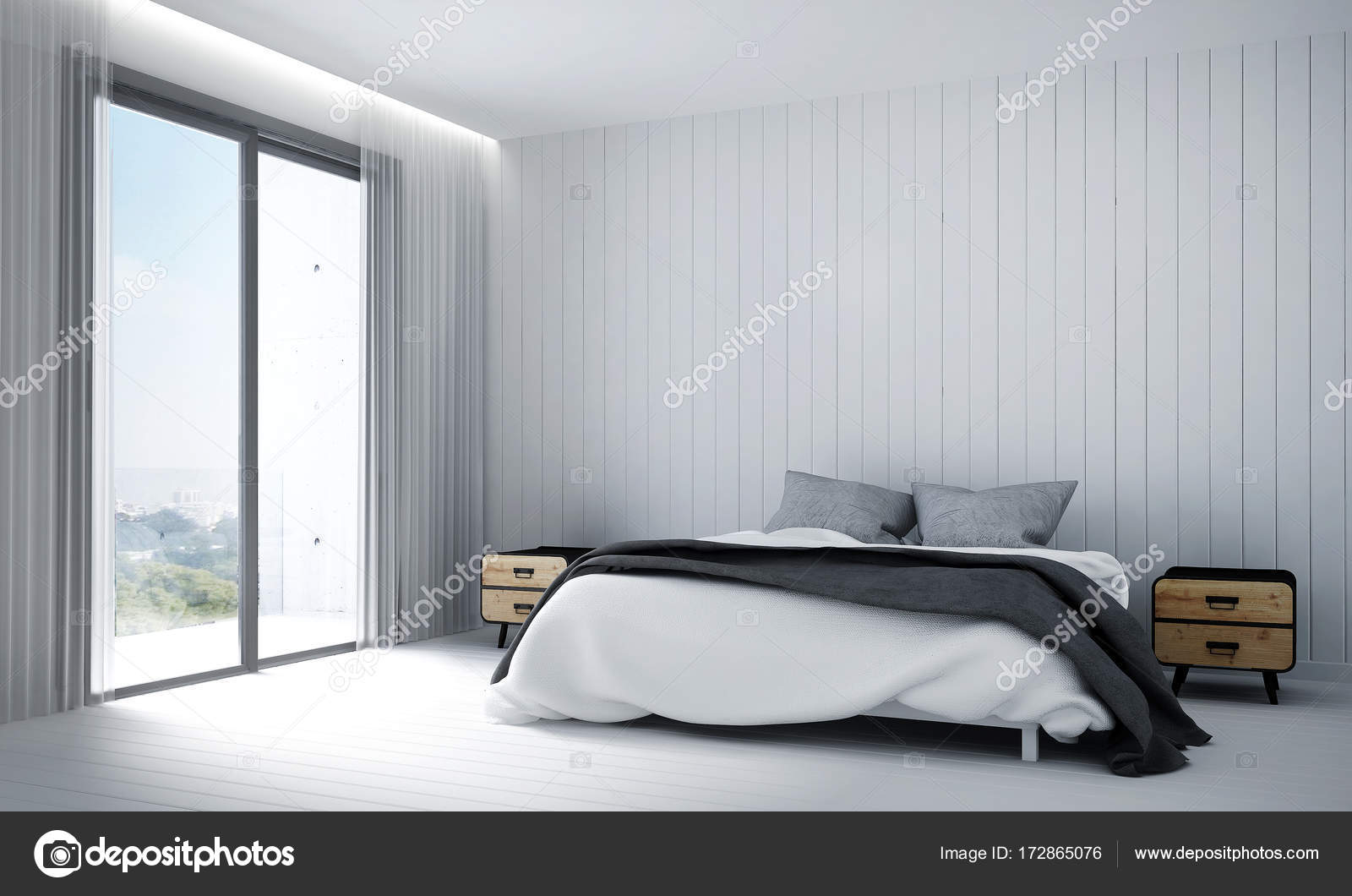Bedroom White Background Modern Bedroom Interior Design And White Wall Background