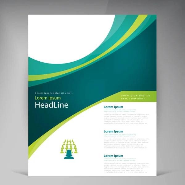 Flyer template layout design Business flyer, brochure, magazine or
