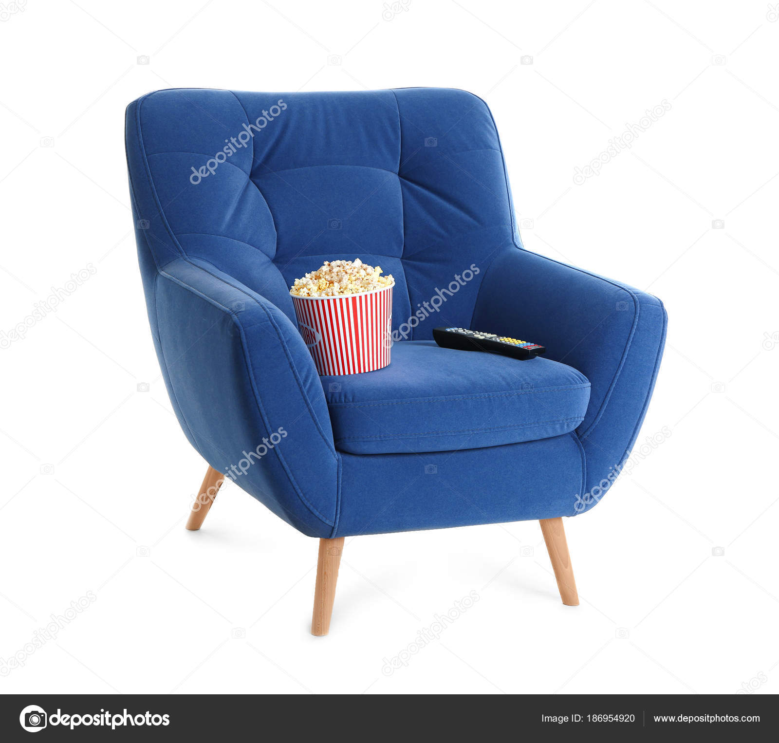 Home Cinema Sessel Comfortable Armchair Popcorn Remote Control Home Cinema White