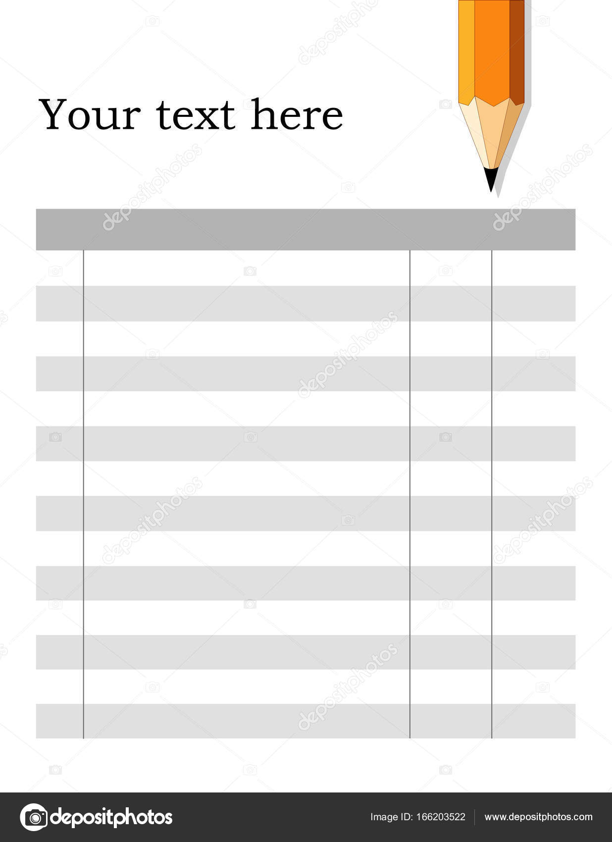 Invoice Form Checklist, Fill in the Blanks, Pencil \u2014 Stock Vector