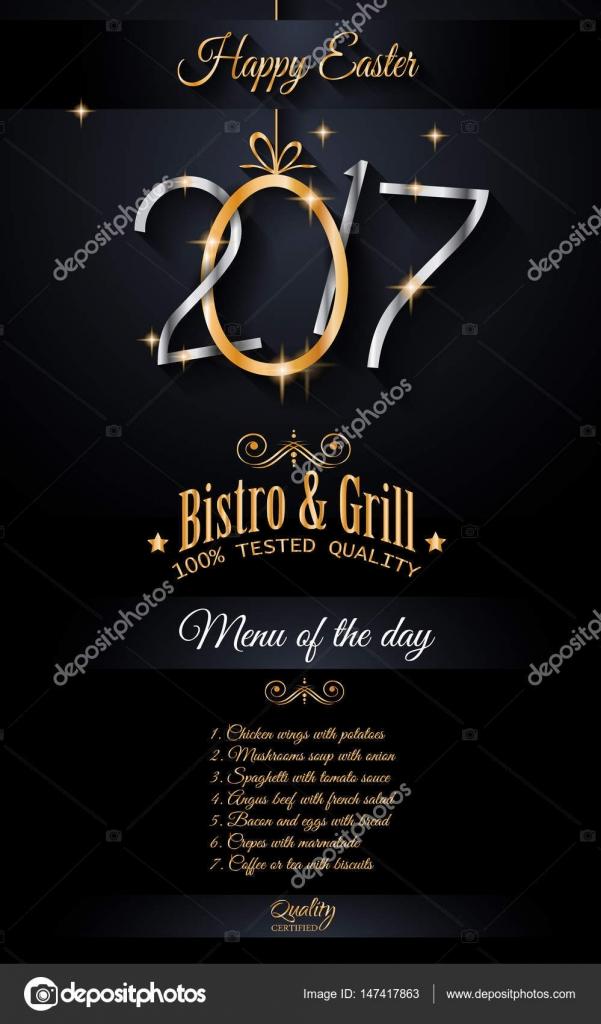 Restaurant Menu template \u2014 Stock Vector © DavidArts #147417863 - 5 day menu template