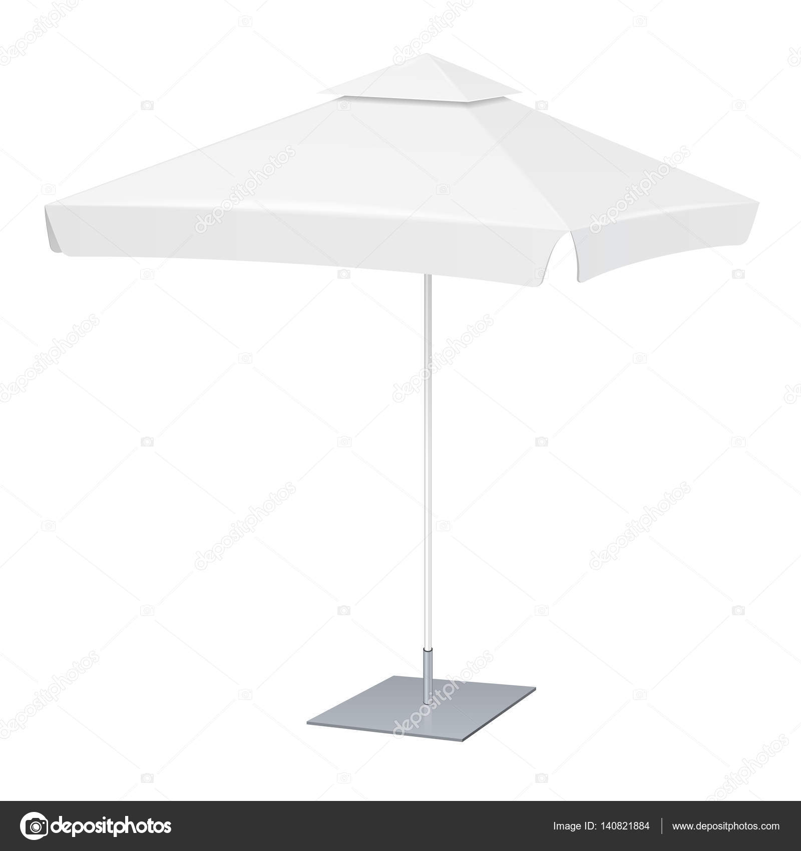 White Umbrella Marquees Promotional Square Advertising Outdoor Garden White Umbrella