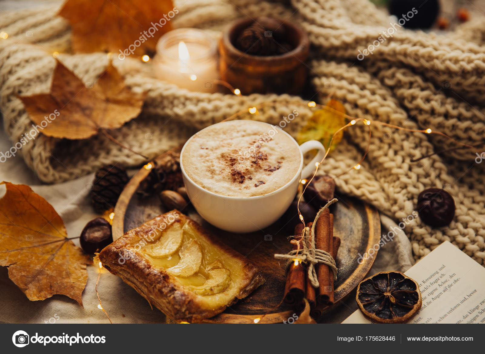Cozy Fall Wallpaper Autumn Cozy Fall Background Hot Coffee Cup Decorations