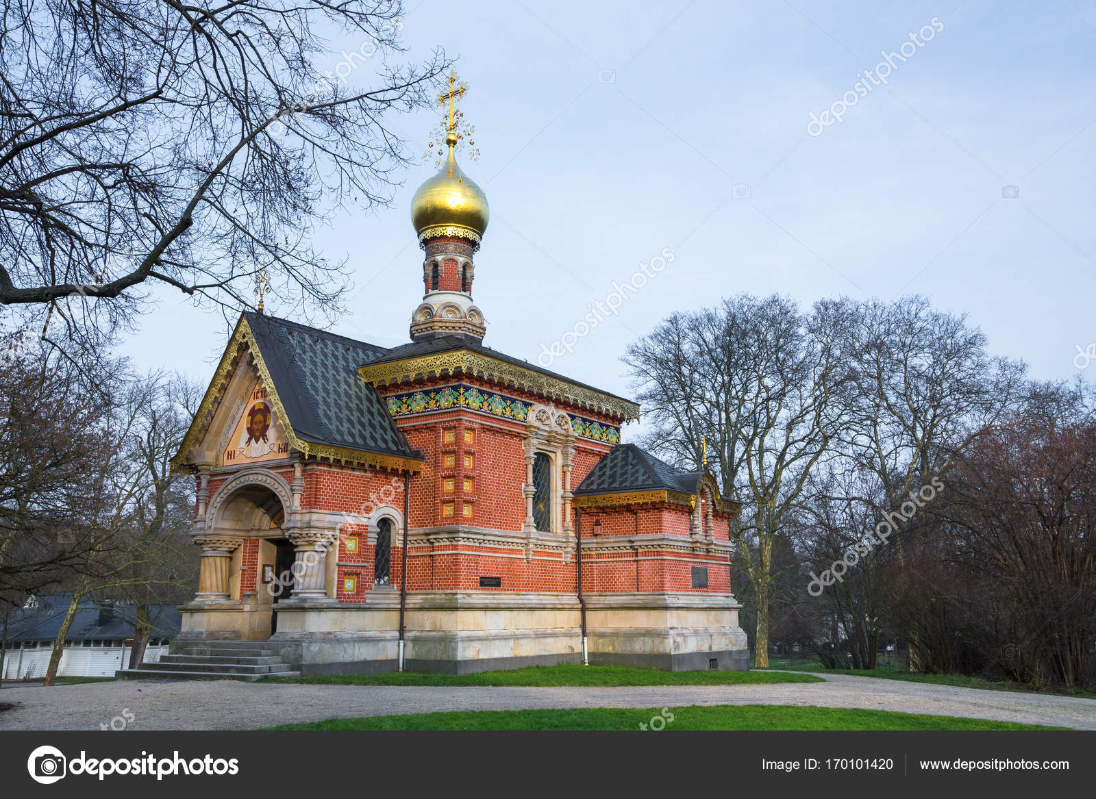 Bad Homburg Russian Orthodox Church In Bad Homburg Stock Photo Ms
