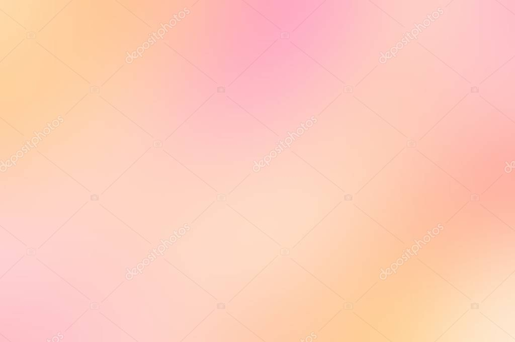 Yellow pink blurred background Abstract light texture Peach mist