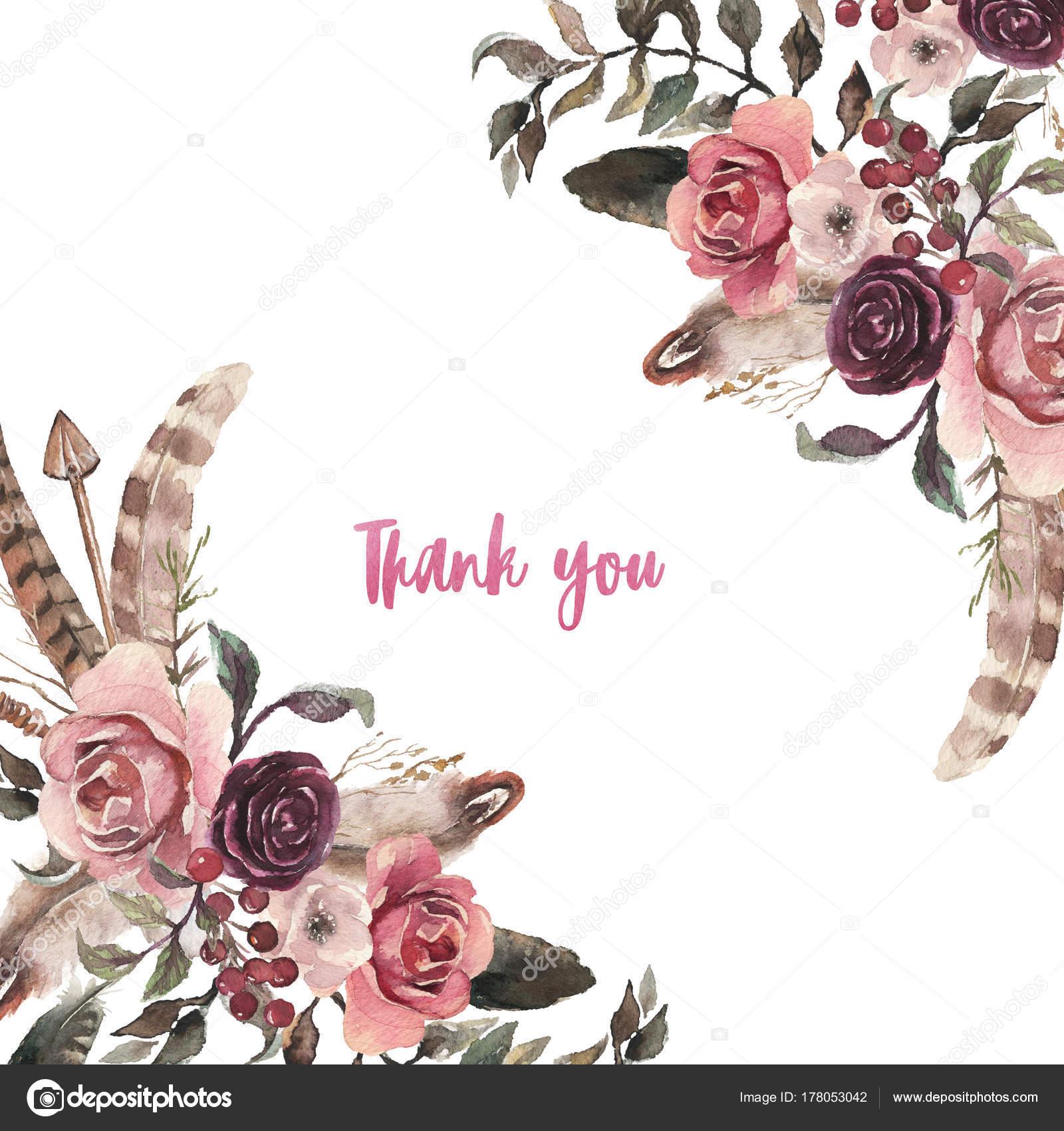 Fall Desktop Wallpaper Pinterest Watercolor Natural Boho Floral Flower Feather Arrangement