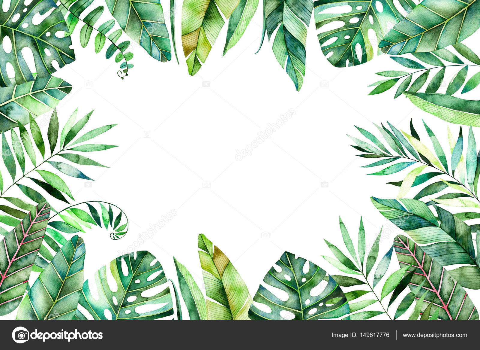 Encadrement Grand Format Borda Do Quadro Em Aquarela Colorida — Stock Photo
