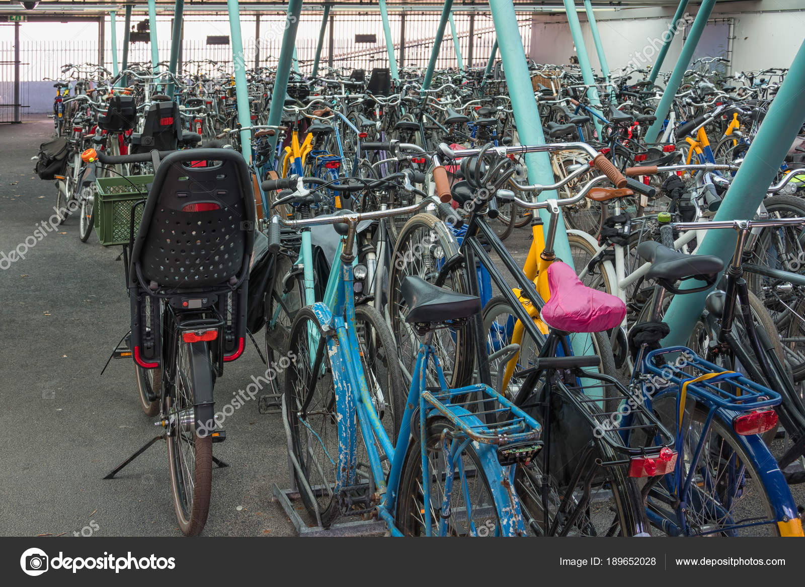 Parking Garage Bike Rack Parking Garage Of Bicycles With Bike Racks And Bikes Stock Photo
