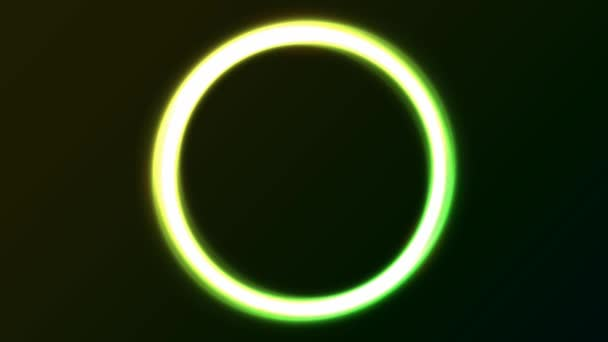 Abstract Green Eclipse Light Circles Animation Animation Loop