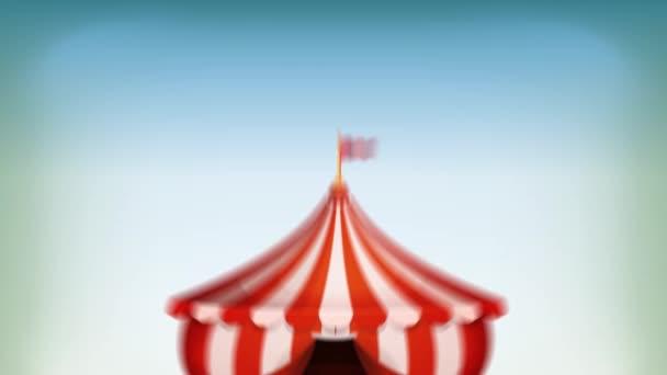 Big Top Circus Background Loop Animated Loop Cartoon White Red
