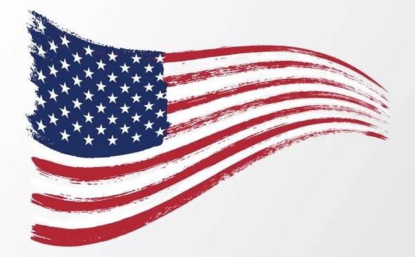 Grunge American flag Watercolor flag of USA Vector illustration - America Flag Background