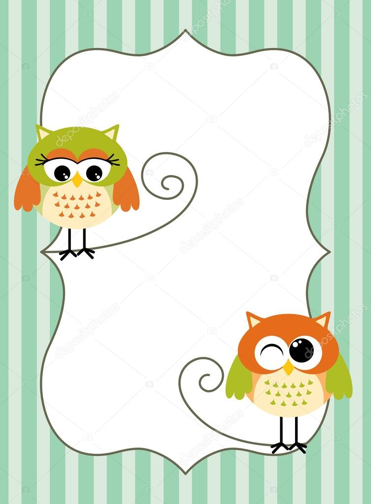 Printable owl label \u2014 Stock Vector © socris79 #125347694