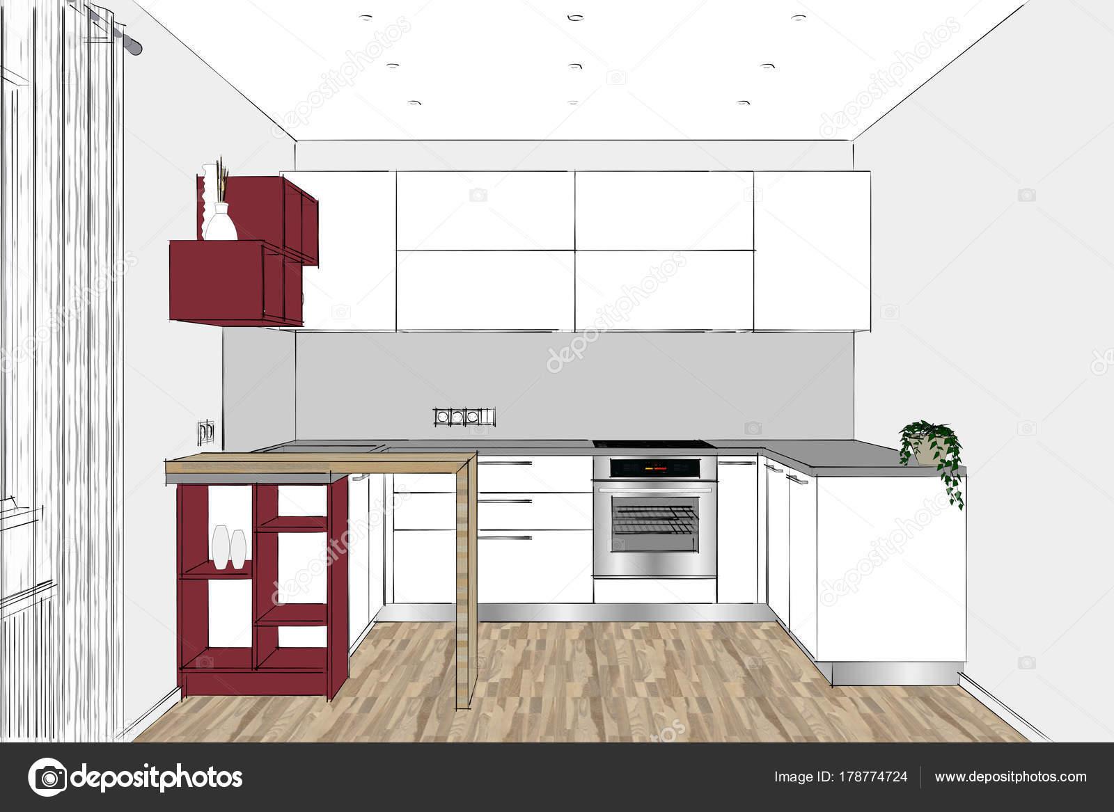Progettare Cucina 3d | Disegnare Cucina 3d Gratis Pro With Disegnare ...