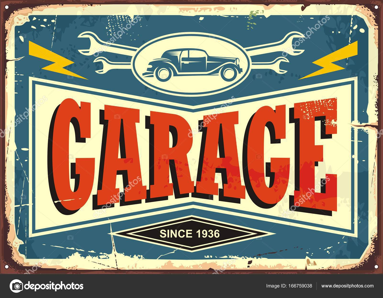 Garage Design Template Vintage Garage Sign Stock Vector Lukeruk 166759038