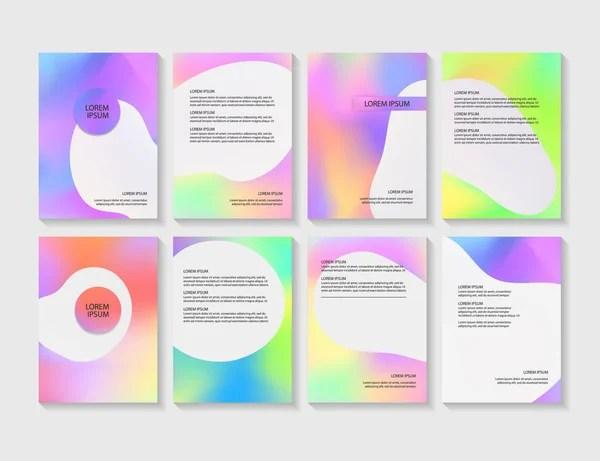 Set Beauty Brochure Annual Report Flyer Design Templates Size Vector - flyer layout templates