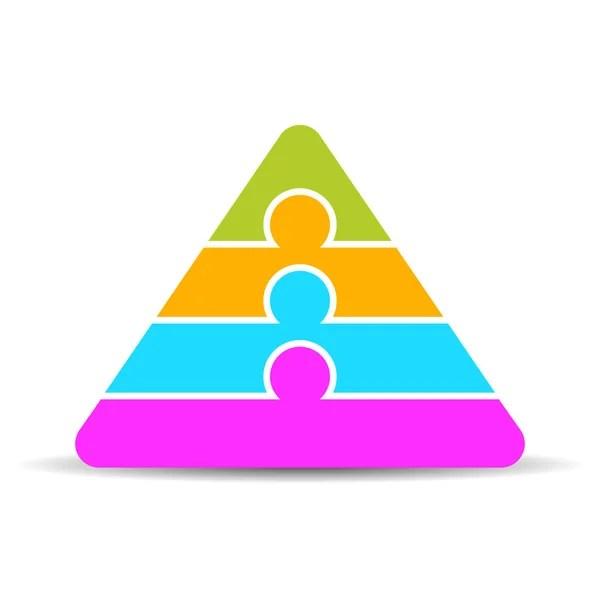 3 part layered pyramid diagram template \u2014 Stock Vector © Arcady - blank pyramid template