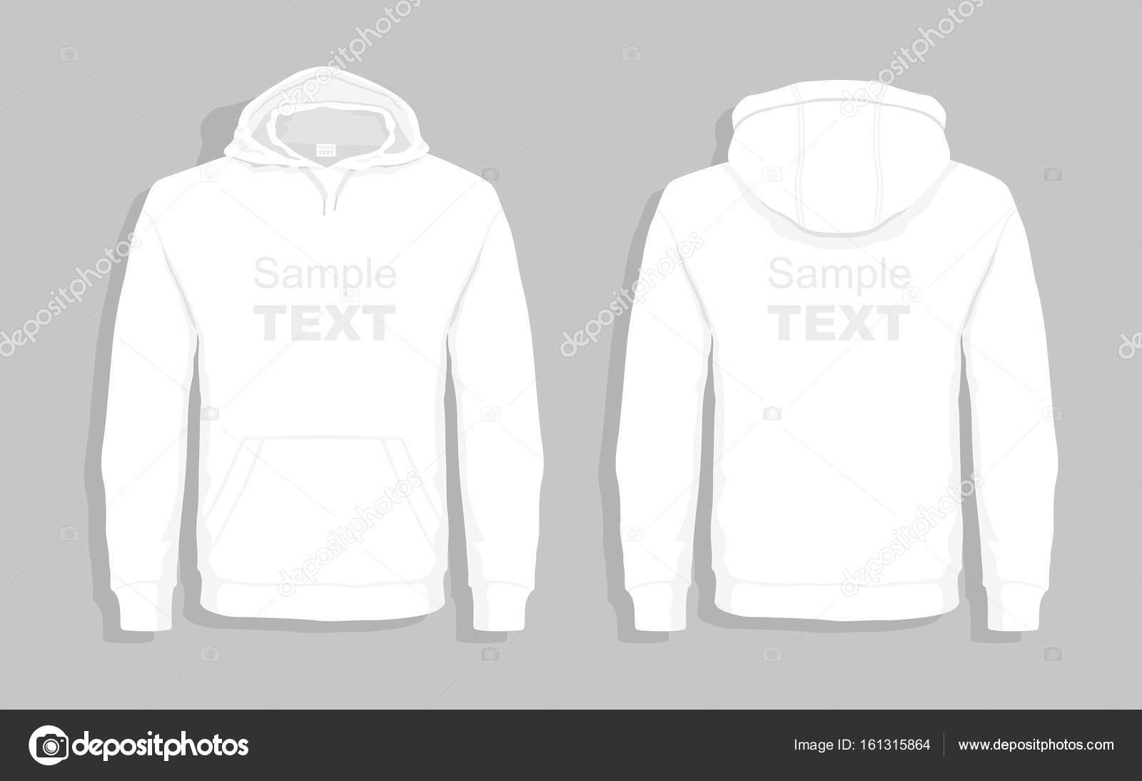 White sweater design template \u2014 Stock Vector © Volykievgenii #161315864