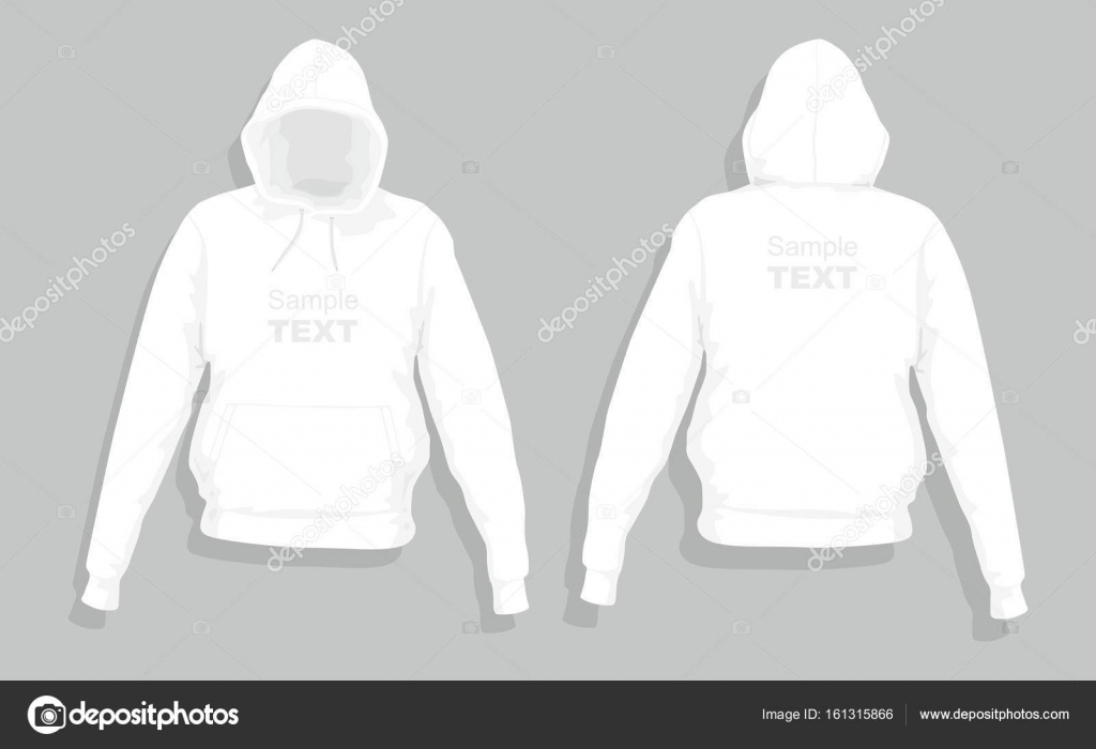 White sweater design template \u2014 Stock Vector © Volykievgenii #161315866