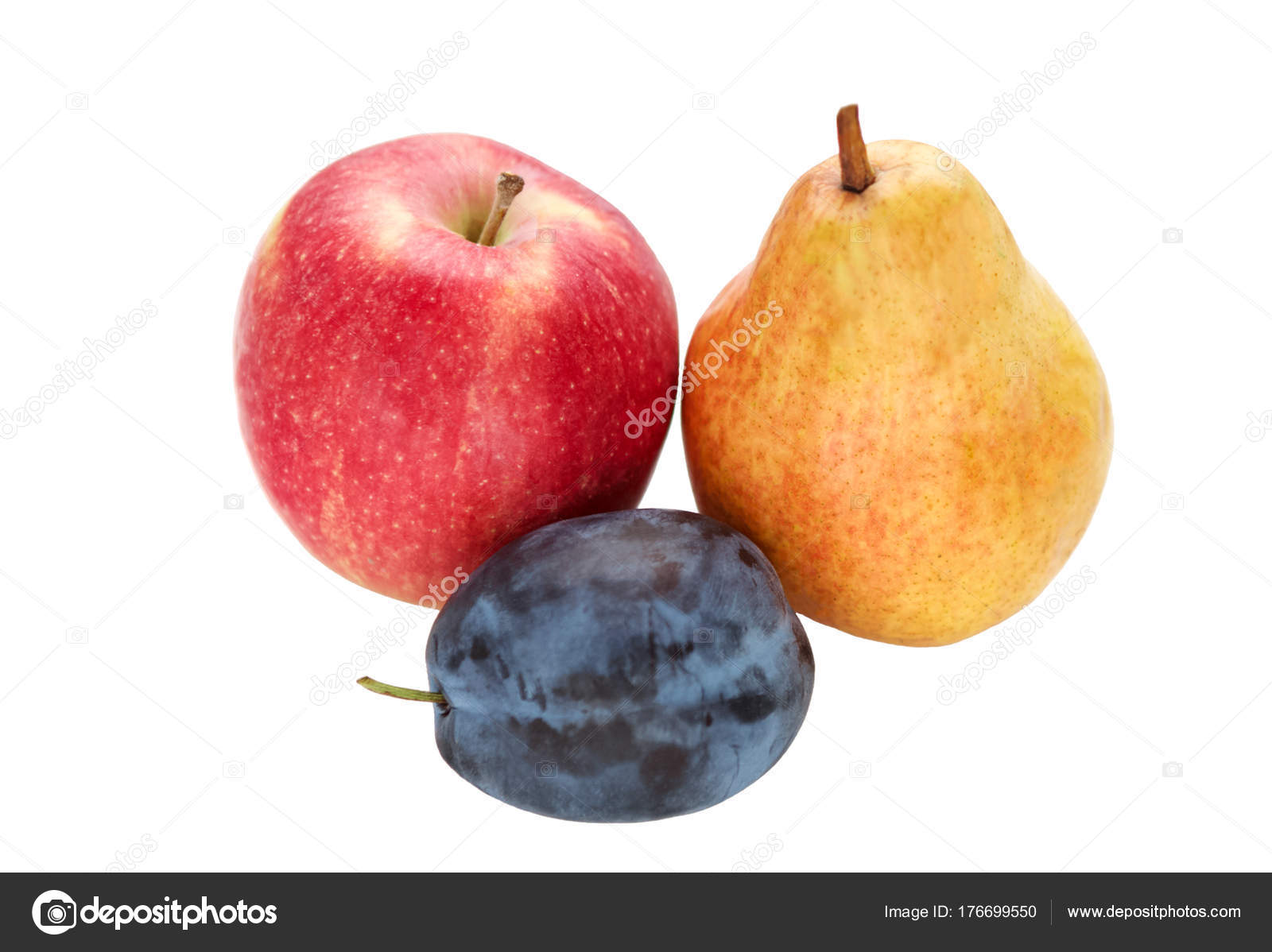 Pflaume Zwetschge Plum Apple And Pear Stock Photo Romiri 176699550