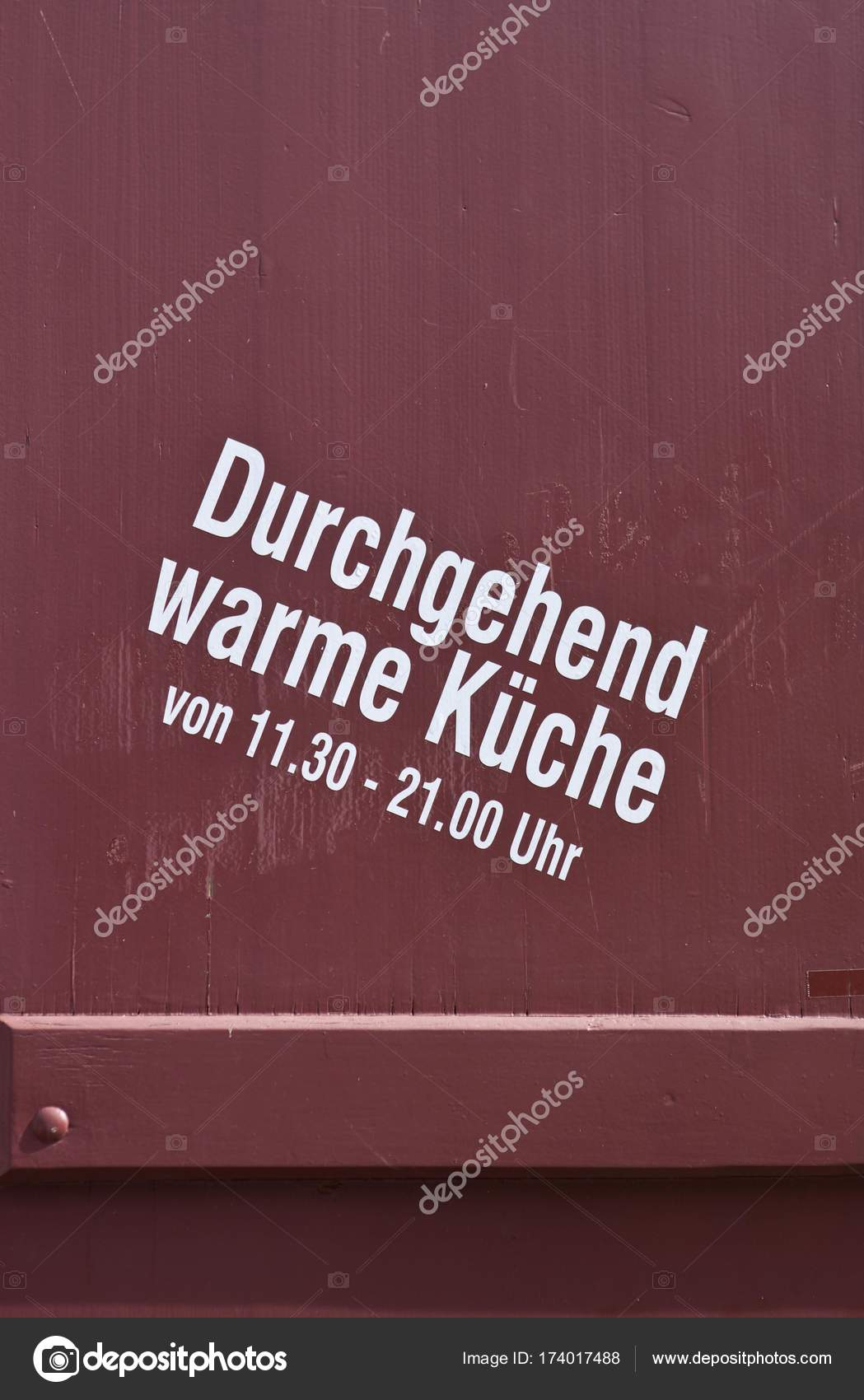 Durchgehend Warme Küche Lettering Durchgehend Warme Kueche German Hot Meals Served All Day