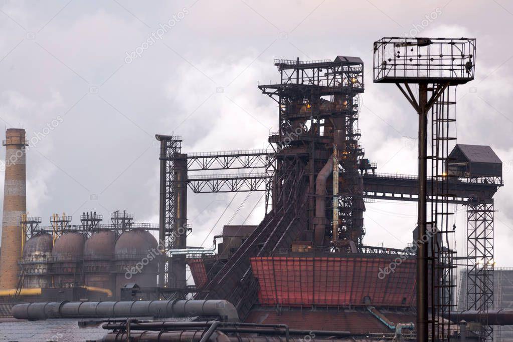 Alto Forno A Producao De Ferro A Producao Metalurgica