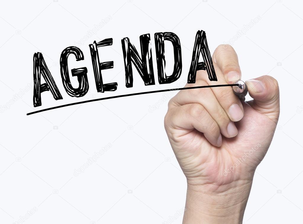 agenda written by hand \u2014 Stock Photo © kchungtw #127387866 - agenda writing