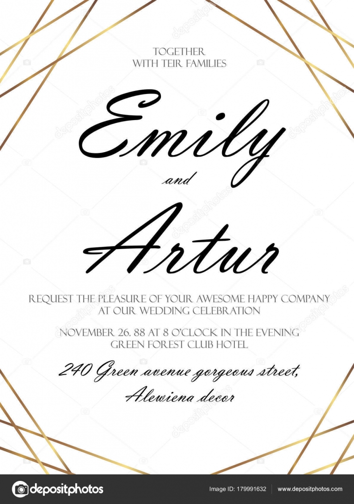 Wedding invite, invitation save the date card delicate design witn