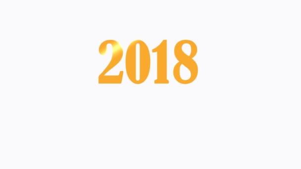 2018 Happy New Year Graphic Clip Footage Company Logo Presentation