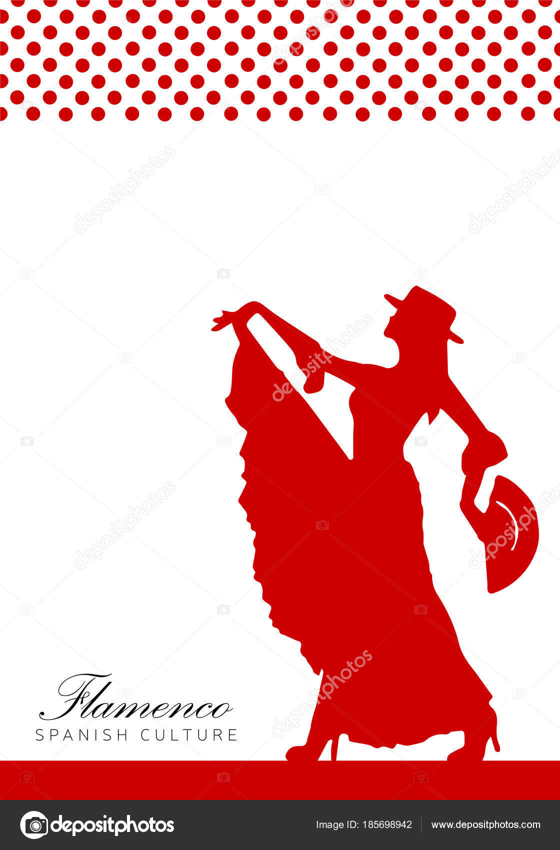 Poster In Spanish Poster With Spanish Woman Illustration Flamenco Stock Vector