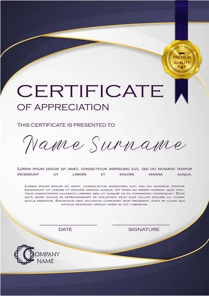 Qualification Certificate Appreciation Design Elegant Luxury Modern