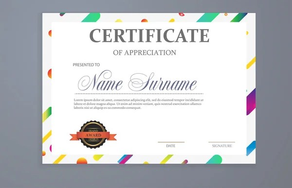 Certificate of participation template in sport theme for football