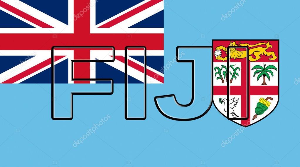 Flag of Fiji Word \u2014 Stock Photo © diverroy #125097384 - word flag