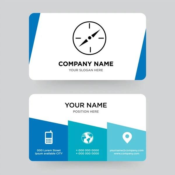 Compass business card design template \u2014 Stock Vector