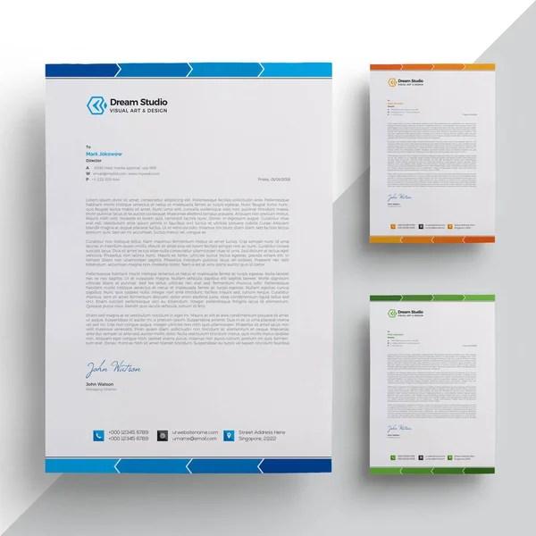 Modern Company Letterhead Template \u2014 Stock Vector © DreamStudio-eg - company letterhead template