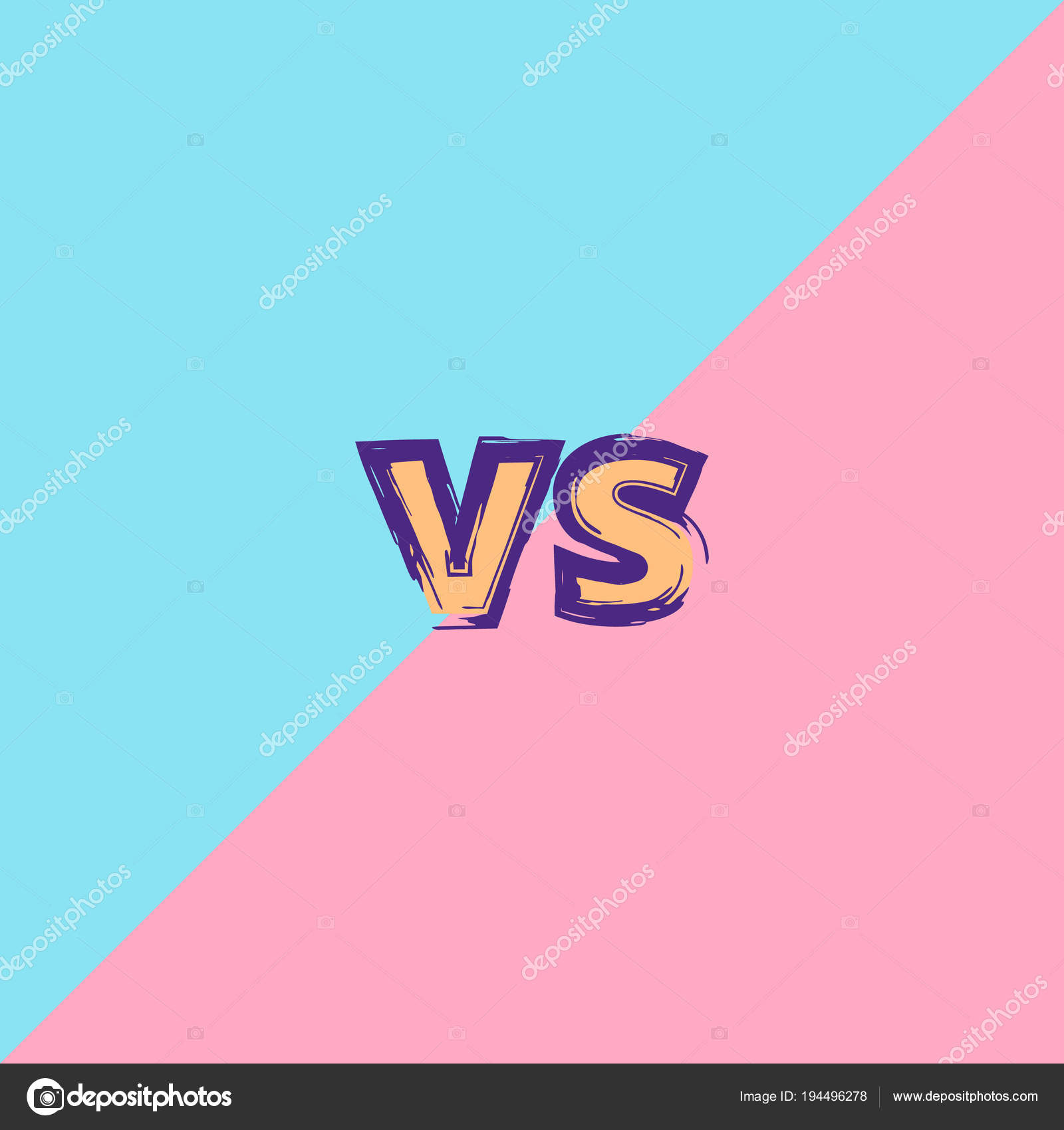 / Vs Vs Banner Versus Screen Stock Vector Syuzannam 194496278