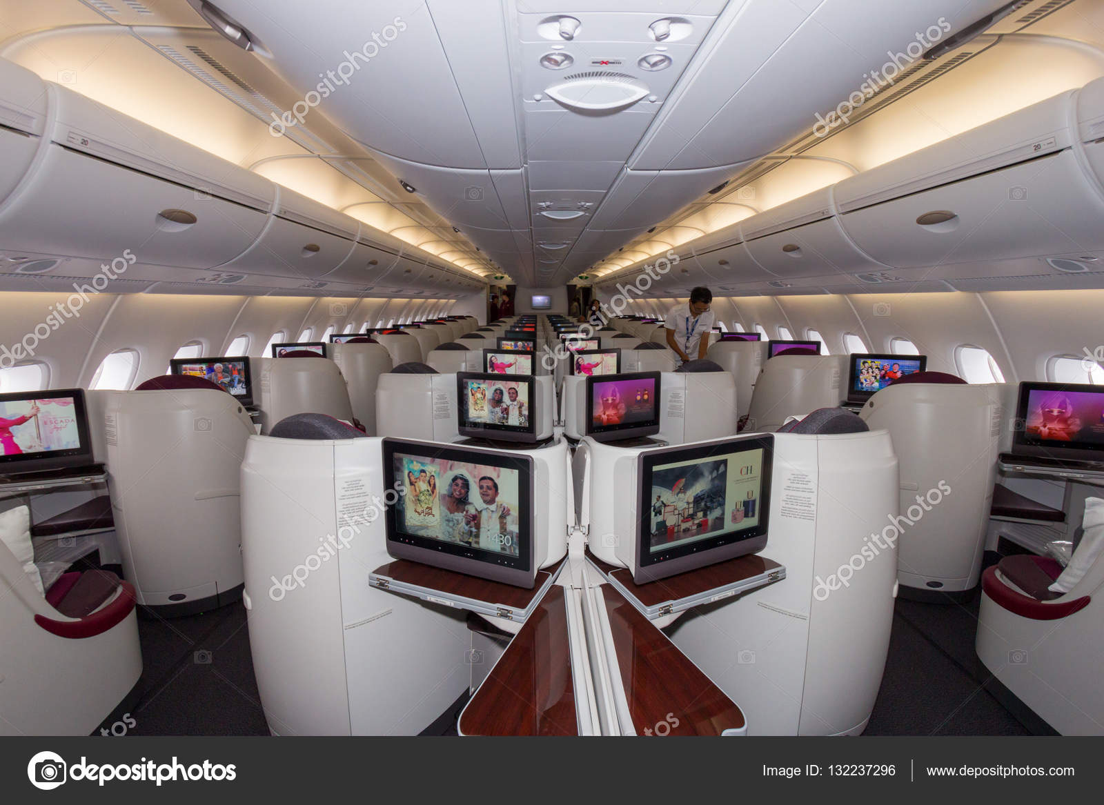 Interieur Airbus A380 Airbus A380 Interior View Stock Editorial Photo Foto