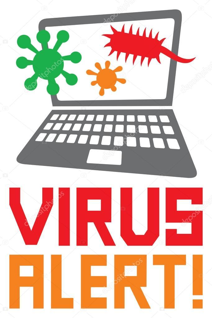 computer virus alert icon \u2014 Stock Vector © Tribaliumivanka #128191462
