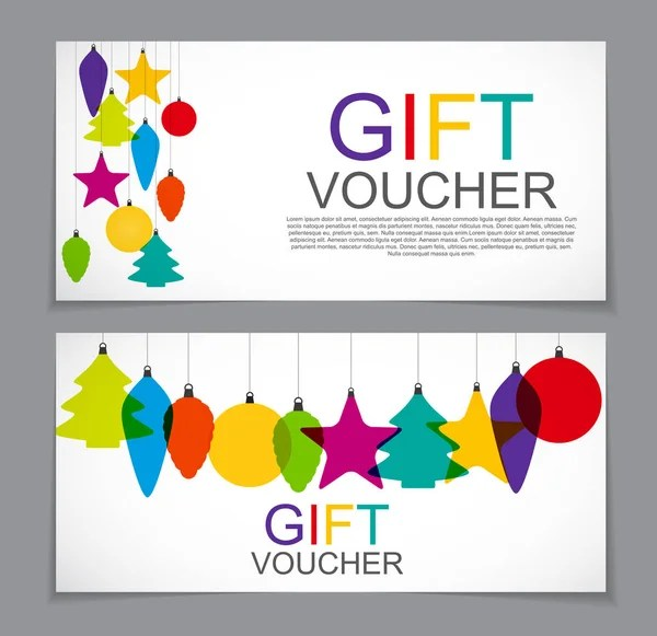 Gift Voucher Template for Christmas and New Year Discount Coupon - christmas gift vouchers templates