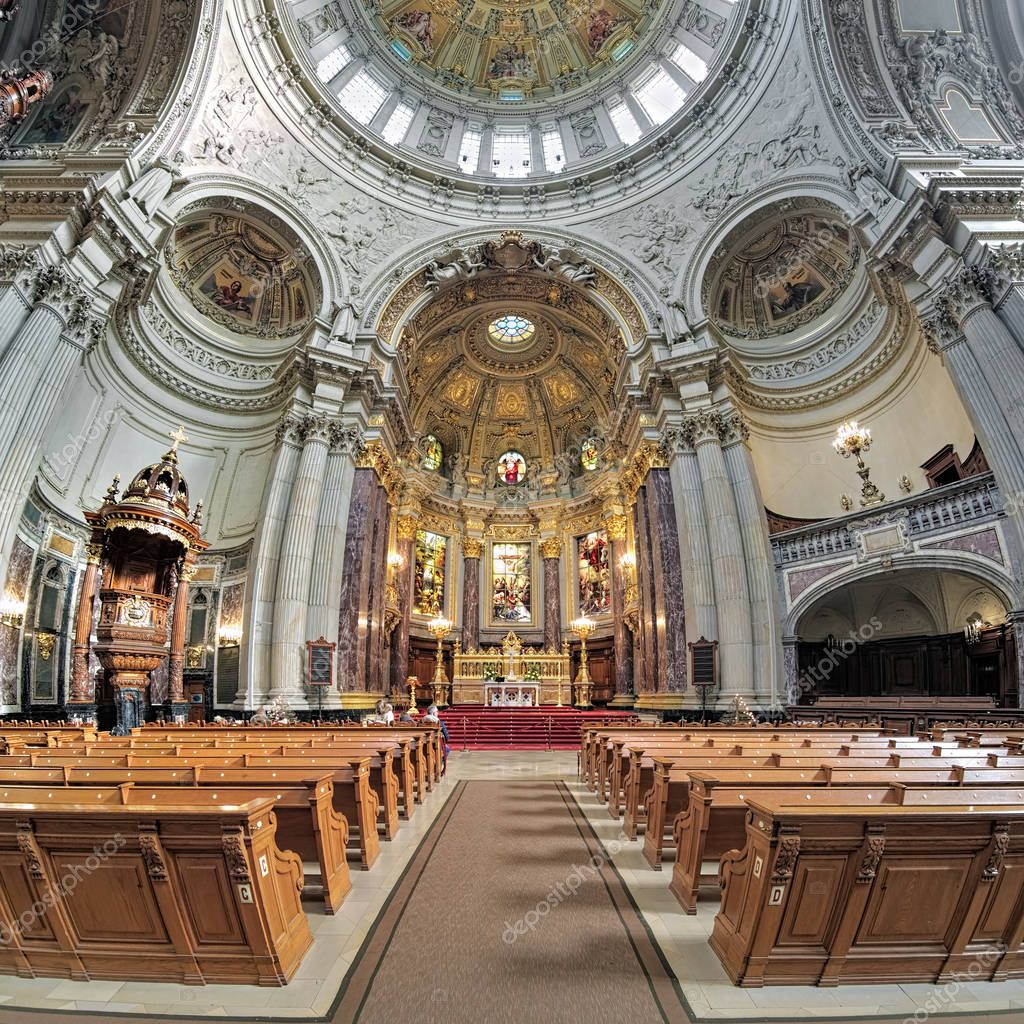Interior Berlin Interior Of Berlin Cathedral Germany Stock Editorial