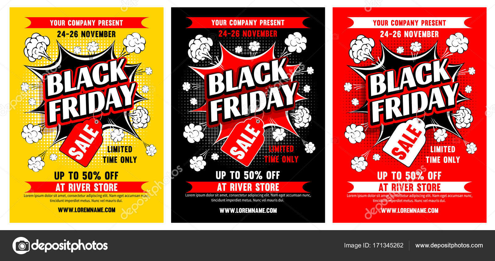 Black friday sale poster template \u2014 Stock Vector © Pazhyna #171345262 - for sale poster template
