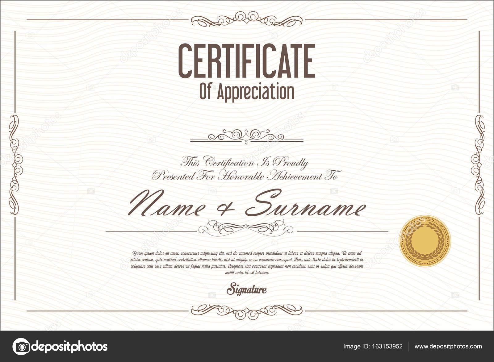 Diseño de diplomas para rellenar Certificado o diploma plantilla