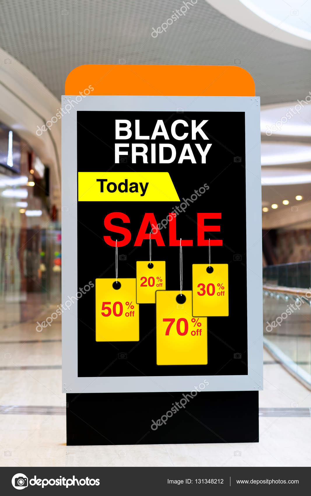 Rabatte Black Friday Plakatwerbung Black Friday Und Rabatte In Mitte Groß Stockfoto