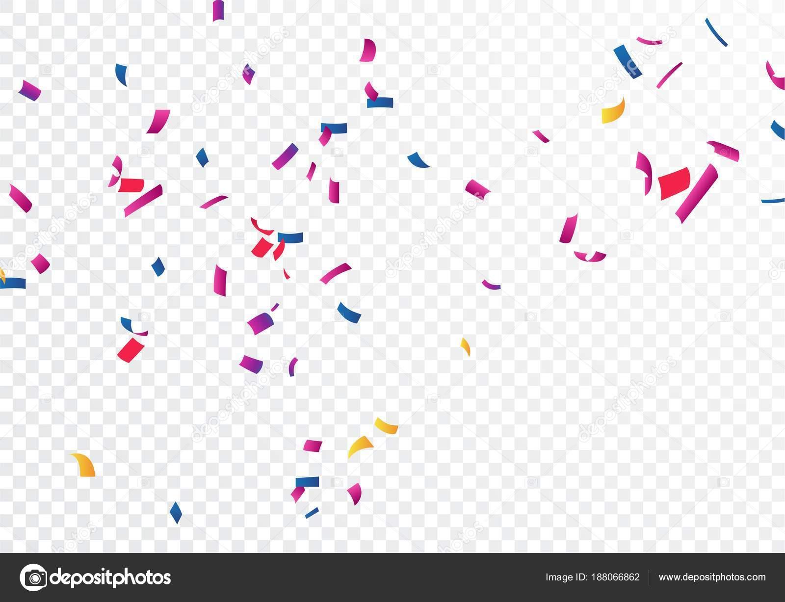 Falling Stars Live Wallpaper Colourful Confetti Transparent Background Stock Vector