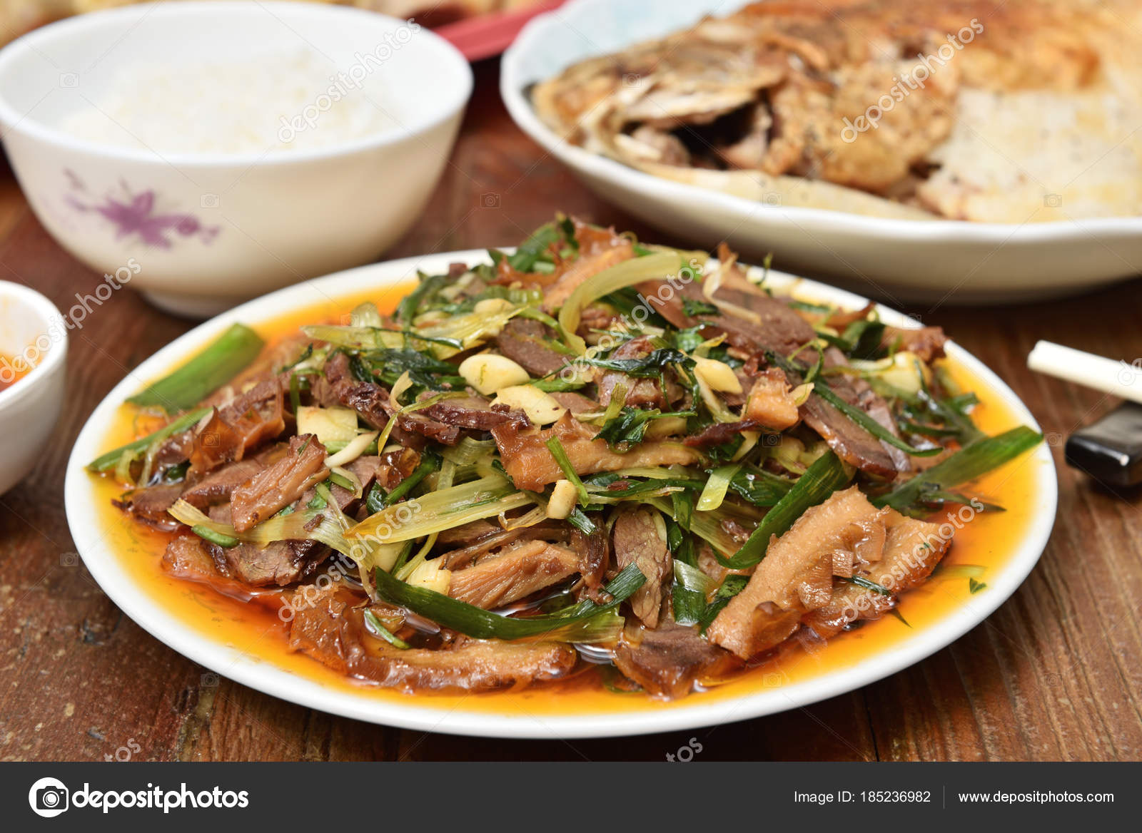 Sichuan Küche Chinese Food Sichuan Cuisine Sliced Beef Tongue Chilli Sauce Mrs