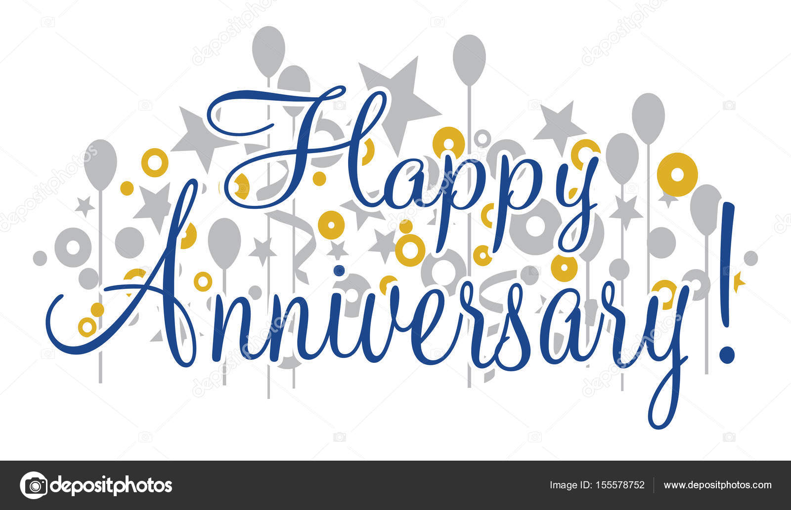 Happy Anniversary Banner \u2014 Stock Vector © AWesleyFloyd #155578752