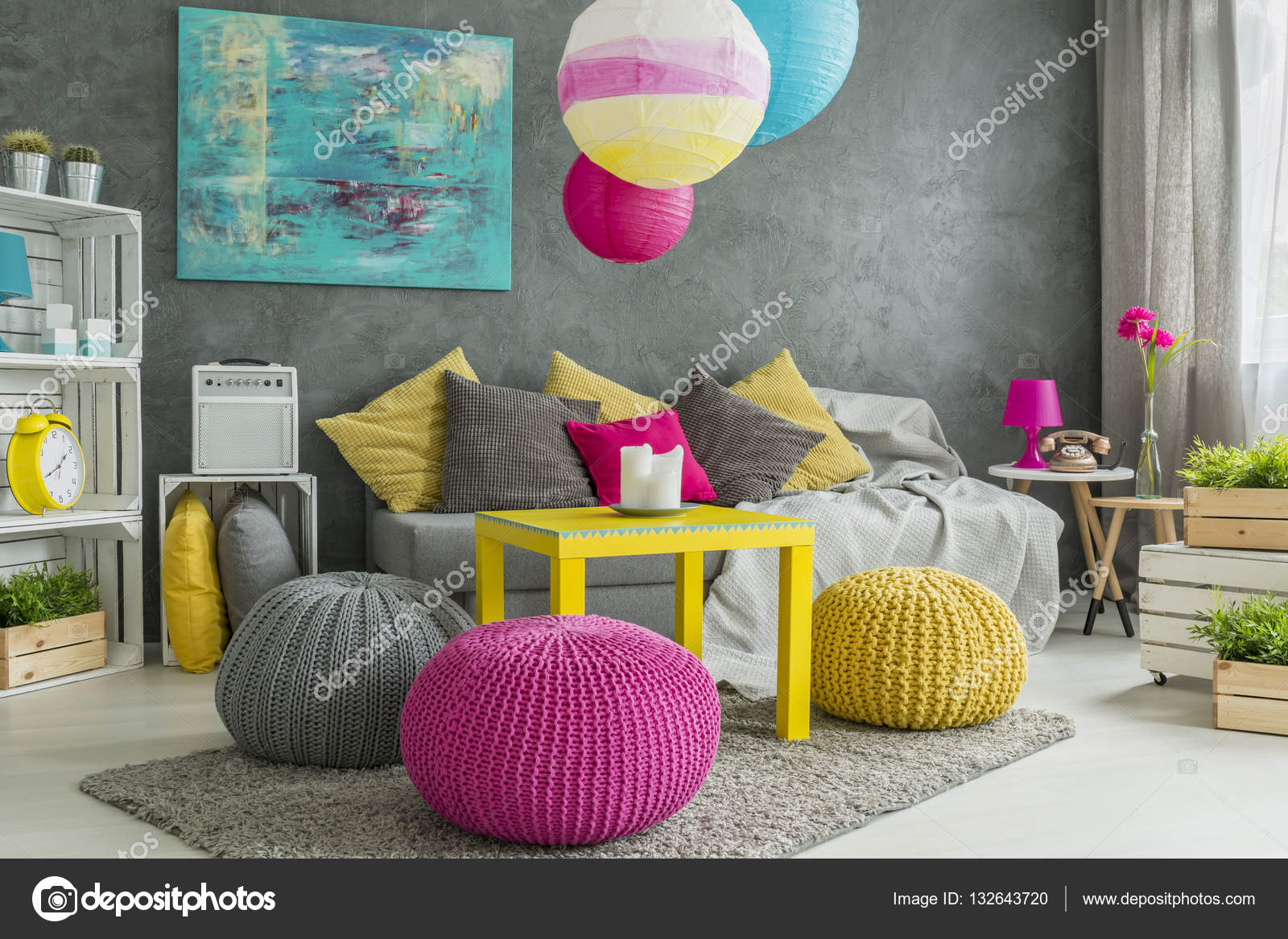 Teenager Zimmer Farbe In Teenager Zimmer Stockfoto Photographee Eu 132643720