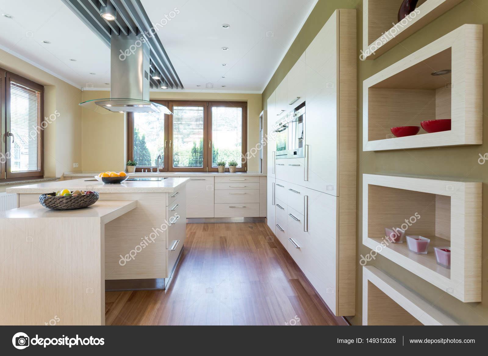 Een ingerichte keuken inrichting