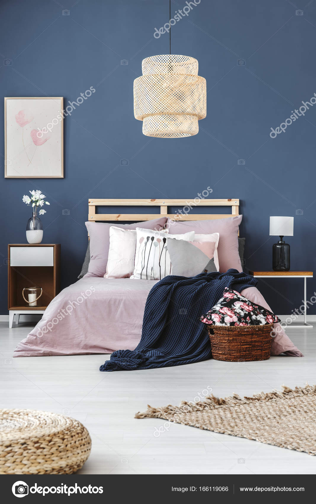 Lamp Boven Bed Lamp Above King Size Bed Stock Photo Photographee Eu 166119066