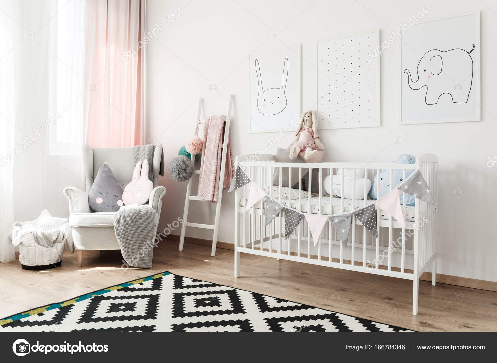 Sessel Kinderzimmer Scandi Kinderzimmer Mit Sessel Stockfoto Photographee Eu